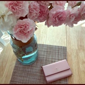 Kate Spade ♠️ Rose blush leather wallet